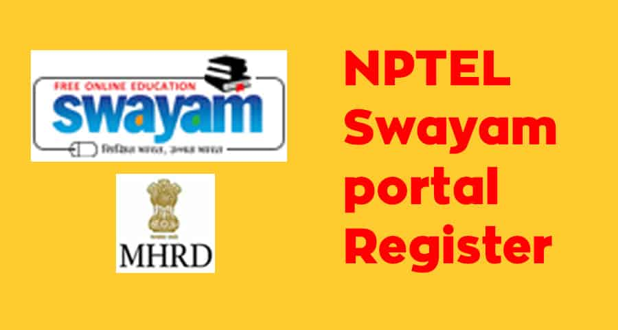 NPTEL Swayam portal Register